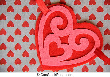 Pink and red heart shape