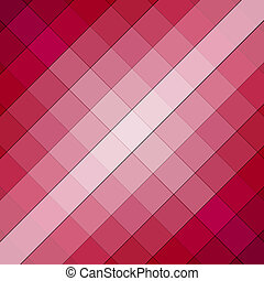 Pink and red square cube background pattern