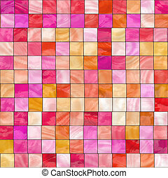 pink and red stained glass - pink, red and orange stained...