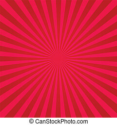 Pink and Red Sunburst