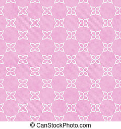 Pink and White Flower Symbol Tile Pattern Repeat Background