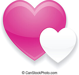 Pink and White Heart Valentines day