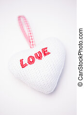 Pink and white love heart decoration - Pink and white love...