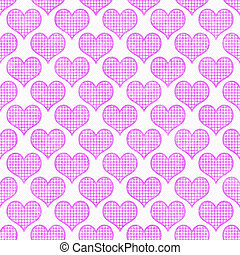 Pink and White Polka Dot Hearts Pattern Repeat Background