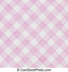 Pink and White Striped Gingham Tile Pattern Repeat Background