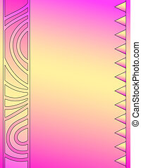 Pink and yellow background with triangles