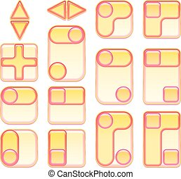 Pink and Yellow Buttons Set