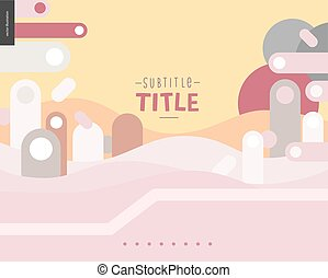 Pink and yellow design landscape template - Pink and yellow...