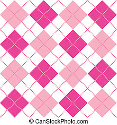 Pink Argyle - An argyle pattern in shades of pink