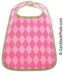 Pink Argyle Baby Girl Bib