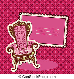 Pink Armchair and picture