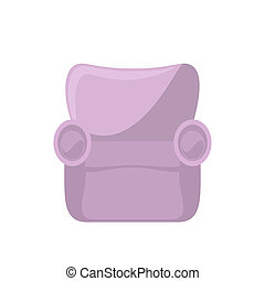 Pink armchair isolated on white