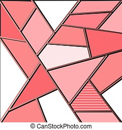 Pink art deco background template multipurpose