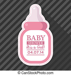 Pink Baby Bottle Card