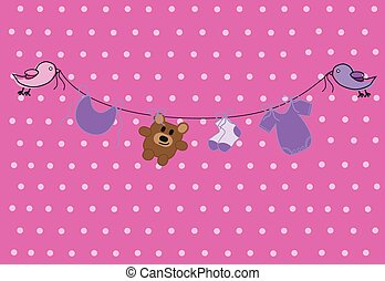 Pink Baby Clothes Line