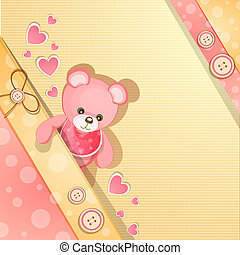 Pink baby shower card