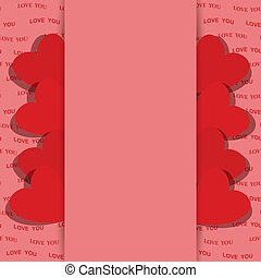 pink background for valentine day with red hearts - vector love you