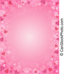 Pink background from hearts