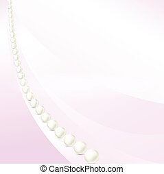 pink background in perspective with pearls