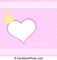Pink background little princess