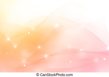 Soft pink and orange tones background. Copy space