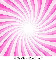 Pink Background - Vector Spiral - Star Shape Pattern