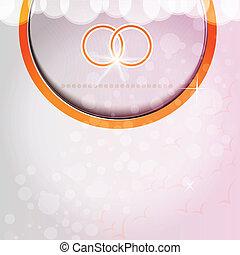 pink background wedding rings