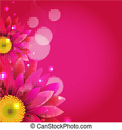 Pink Background With Gerbers