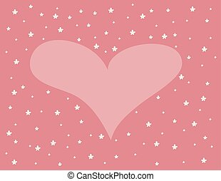 Background with heart and flowers. Valentine's Day. vector