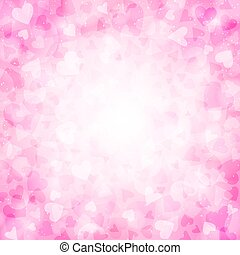 Pink background with hearts for Valentines day