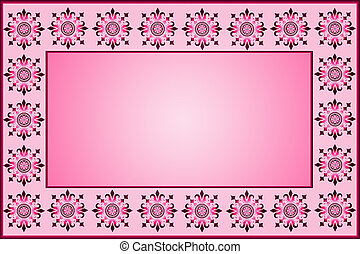 pink background with patterns