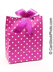 Pink bag with bow