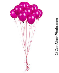 pink balloons on a white
