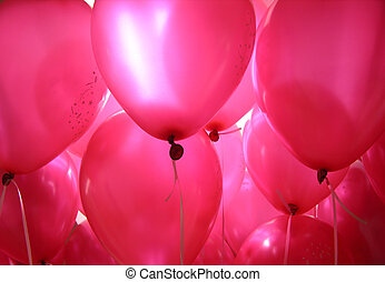 Pink Baloons In The Air