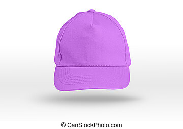 Pink Baseball Cap on a white background.