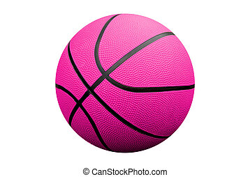 Basketball - Pink Basketball isolated over a white ...