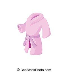 Pink bathrobe cartoon icon