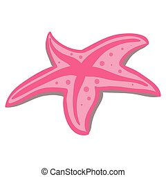 pink beach starfish