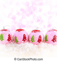 Pink beauty Christmas background