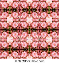 Pink begonia seamless pattern background