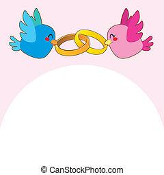 Pink Bird Engagement Rings