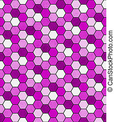 Pink, Black and White Hexagon Mosaic Abstract Geometric Design Tile Pattern Repeat Background