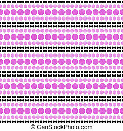Pink, Black and White Polka Dot Abstract Design Tile Pattern Repeat Background