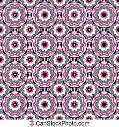 Pink-black-white-grey seamless pattern