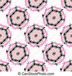 Pink black white pattern