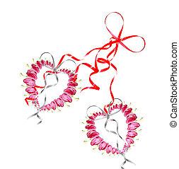 pink bleeding heart flower