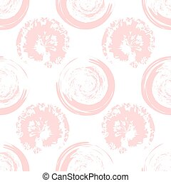 Pink blots on white background