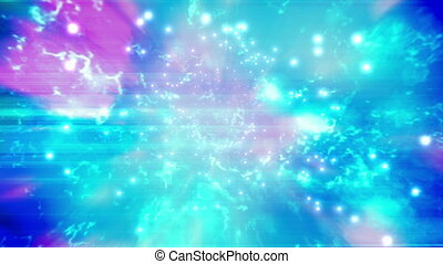 Pink blue and white particle abstract VJ loop background