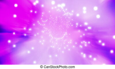 Pink blue and white particle tunnel looping CG background -...