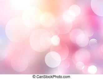 Pink blurred bokeh background, valentine texture.